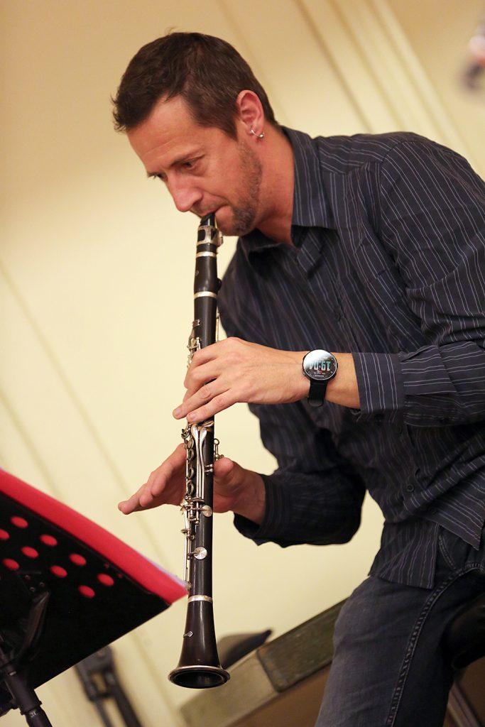 Frédéric Rieger à la clarinette