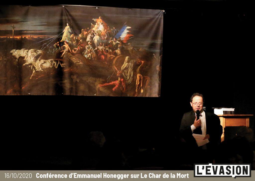 """Rencontre avec Emmanuel Honegger autour du """"Char de la Mort"""" de Théophile Schuler à L'Évasion"""