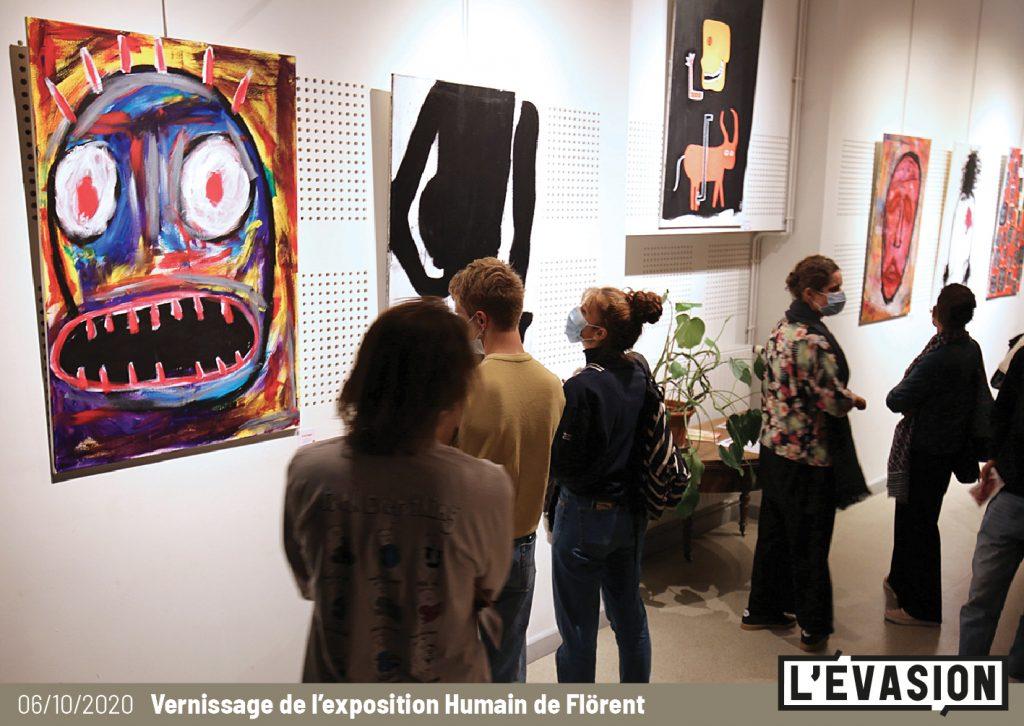 Vernissage de l'exposition Flörent à L'Évasion